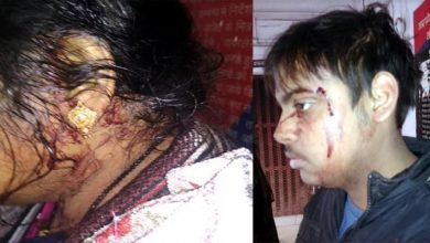 attack on woman and her son in bazarkhala lucknow